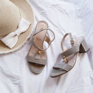 Browns Italian Heeled Sandals Leather